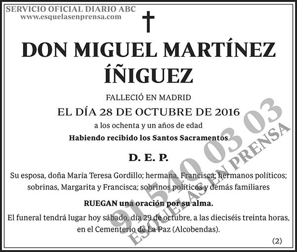 Miguel Martínez Íñiguez
